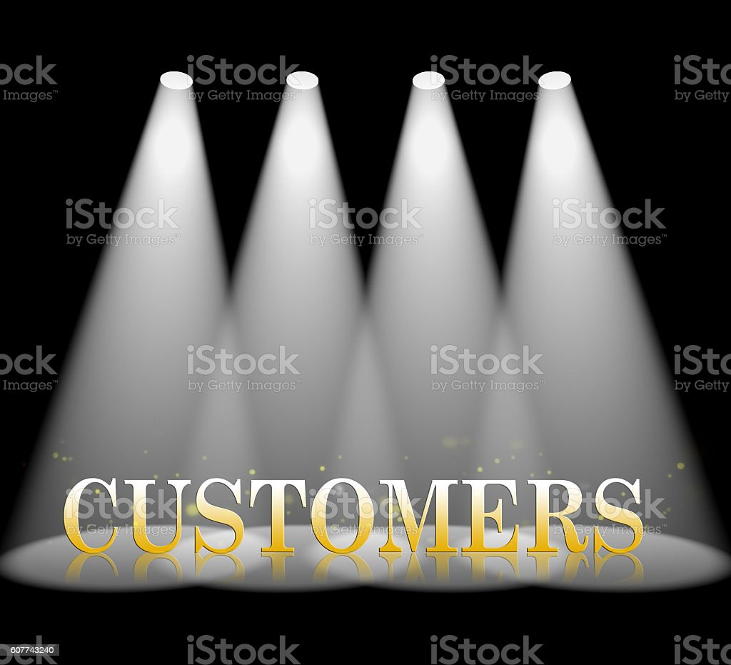 Customers Spotlight Represents Beam Entertainment And Projection stock photo