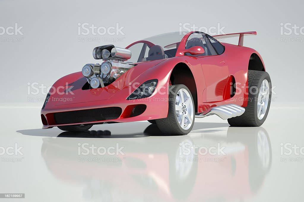Customised Sports Car royalty-free stock photo