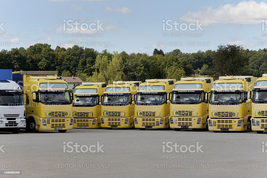 Customised trucks royalty-free stock photo