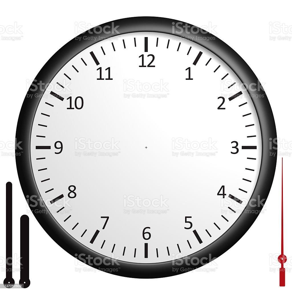 Customizable blank clock royalty-free stock photo