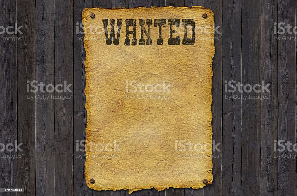 Customizable wanted poster illustration royalty-free stock photo