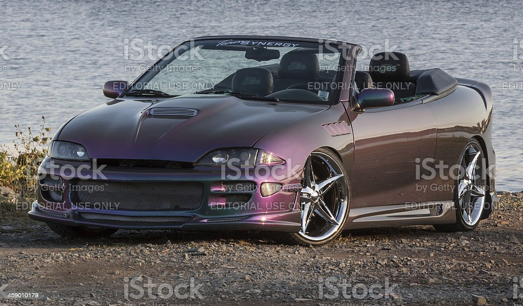 Customized Cavalier Convertible stock photo