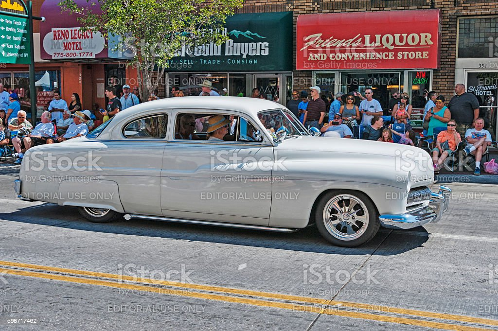 Customized Dream Car at Reno  Automobile  Parade stock photo
