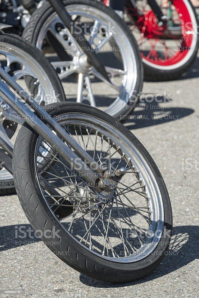 Customized Motorcycles royalty-free stock photo