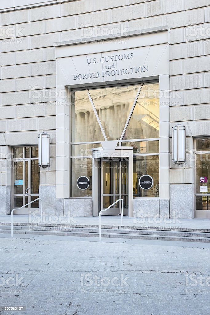 US Customs and Border Protection Office in Washington DC royalty-free stock photo