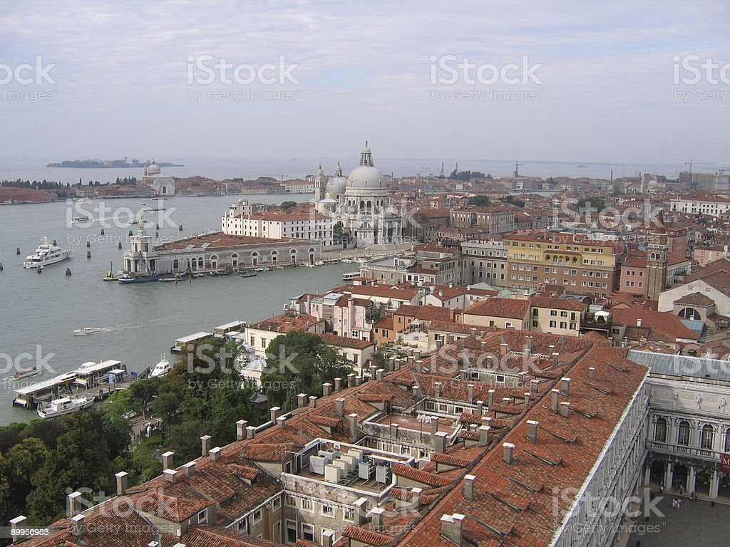 Dogana, Salutte & Grand Canal royalty-free stock photo