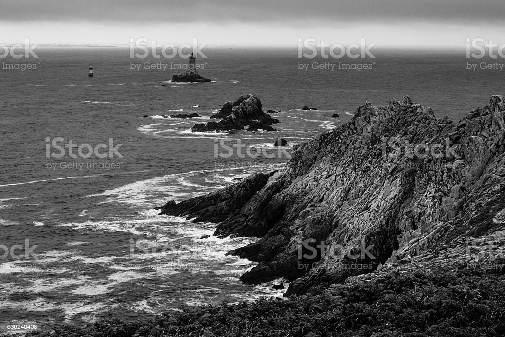 Customs Officers' Path in Pointe de Saint Mathieu, Brittany, France stock photo