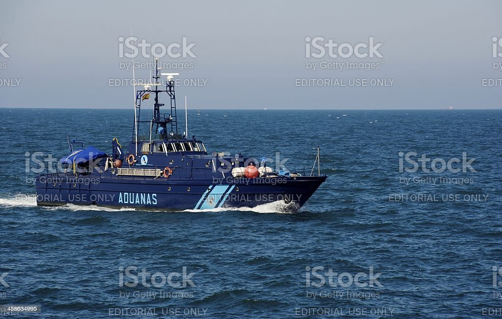 Customs Patrol Boat sailing royalty-free stock photo