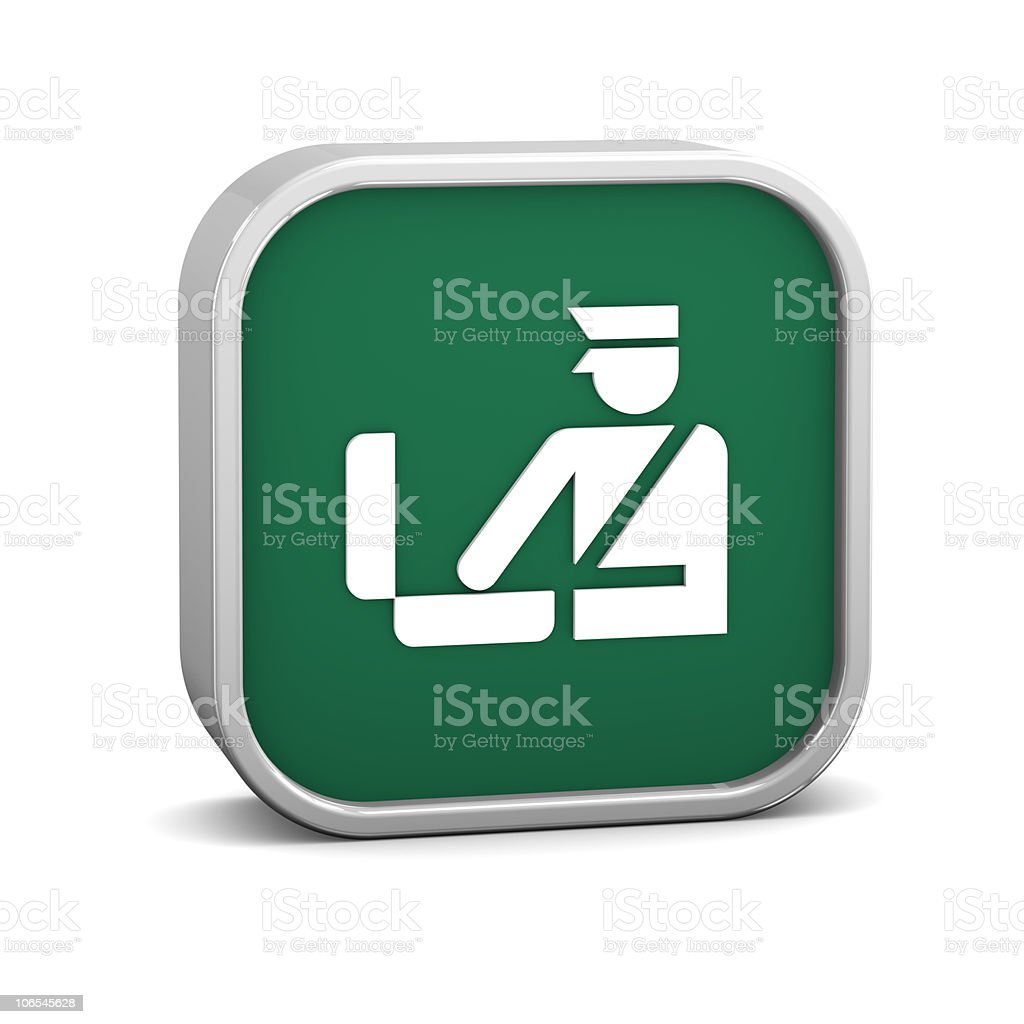 Customs Sign royalty-free stock photo