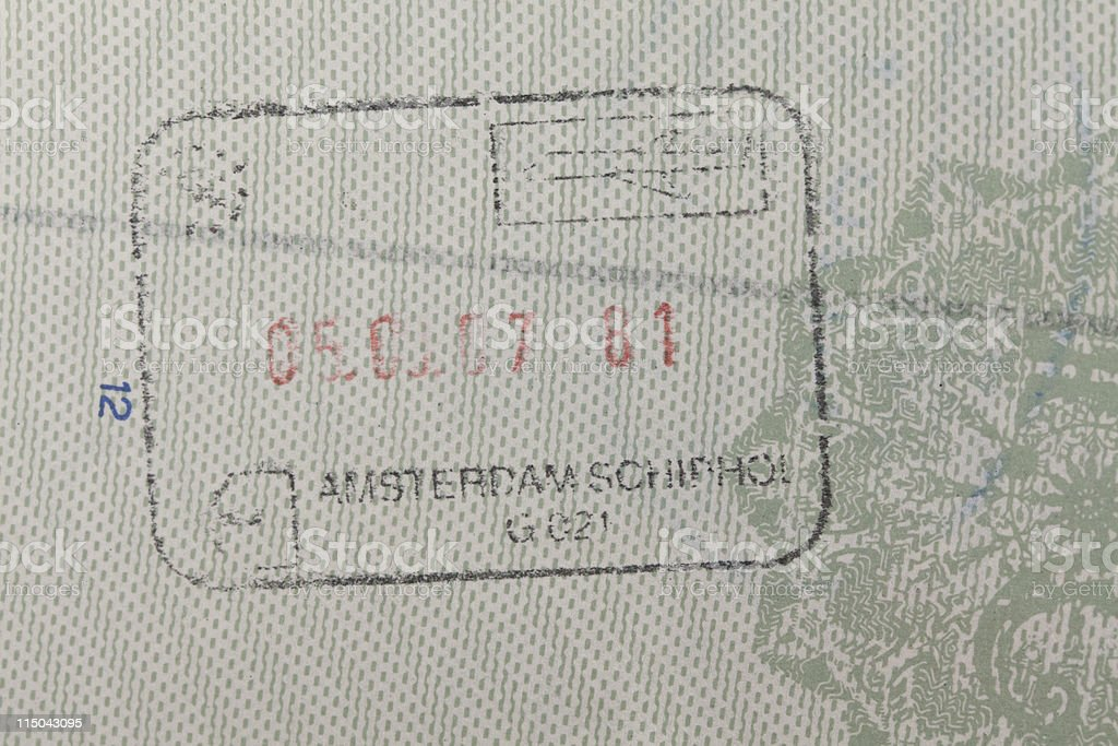 customs stamp royalty-free stock photo