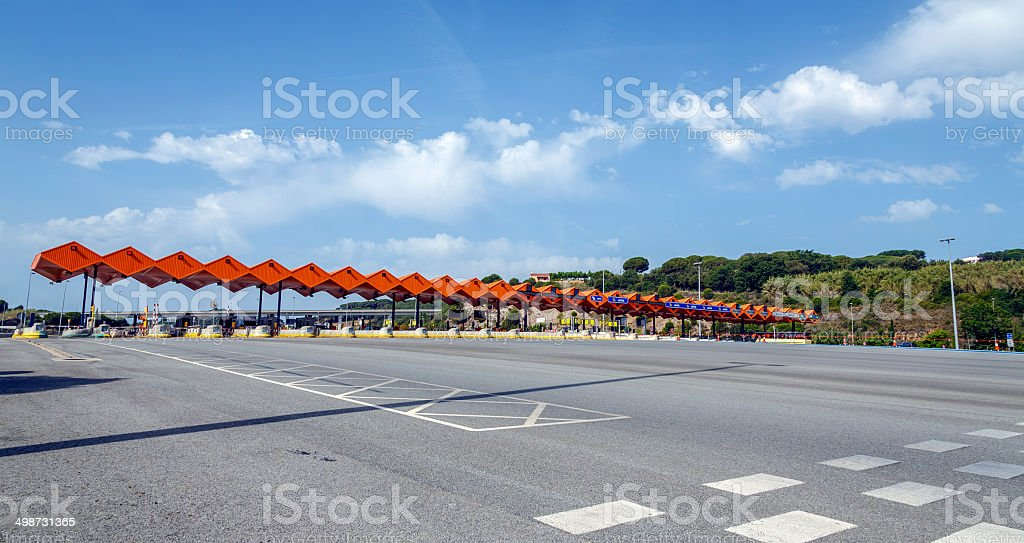 Customs toll road stock photo