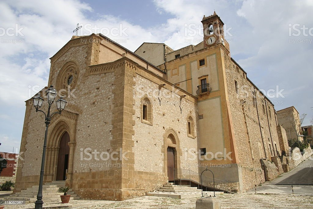 Custonaci, main church stock photo