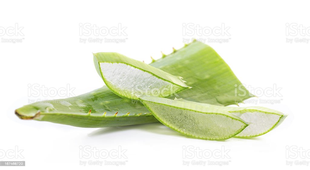 cut aloe leaves royalty-free stock photo