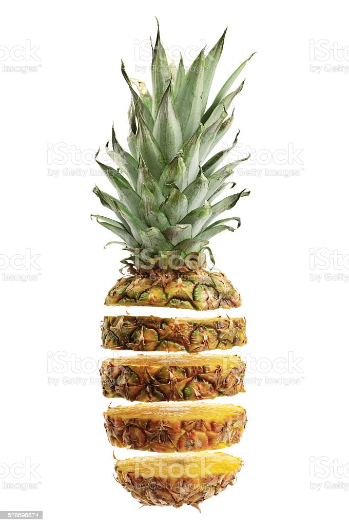 cut ananas stock photo