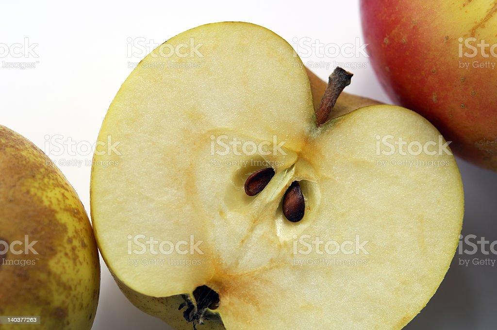 cut apple royalty-free stock photo