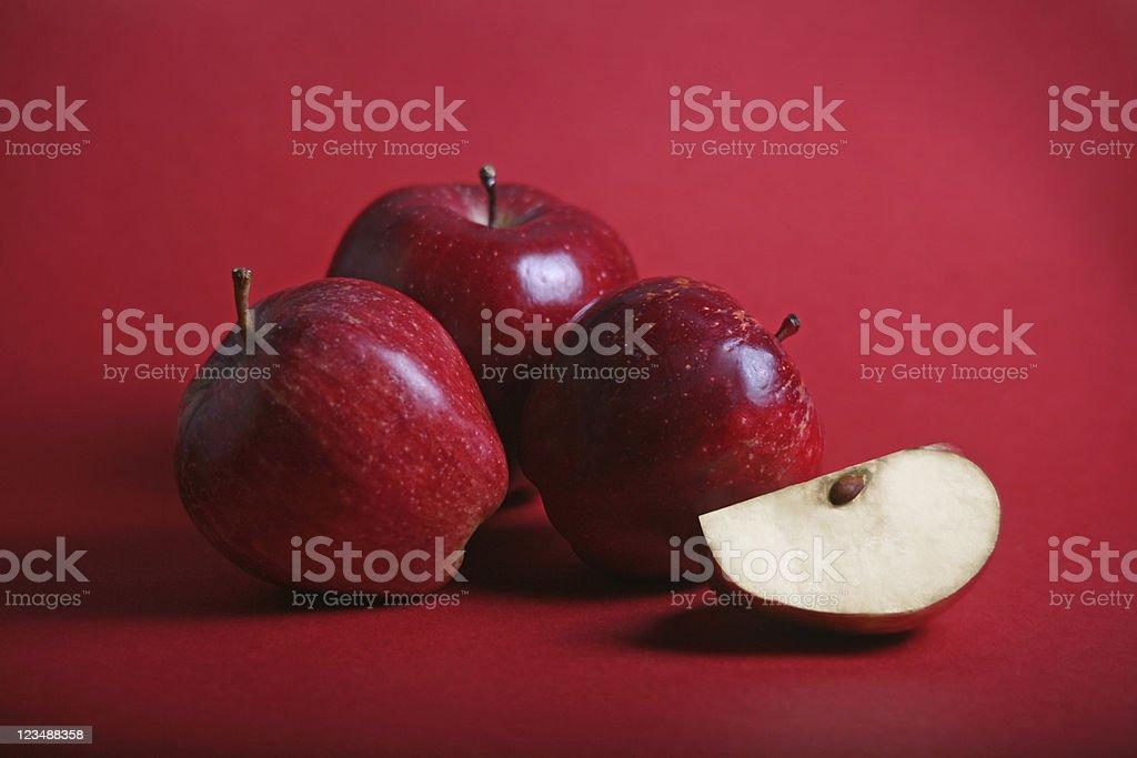 cut apples stock photo
