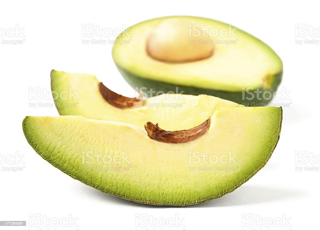 cut avocado royalty-free stock photo