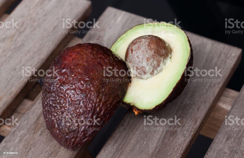 Cut avocado stock photo