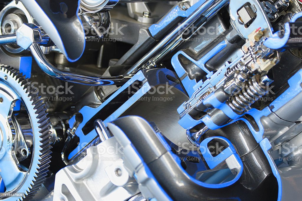 Cut away of an engine royalty-free stock photo
