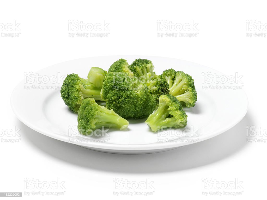 Cut Broccoli royalty-free stock photo