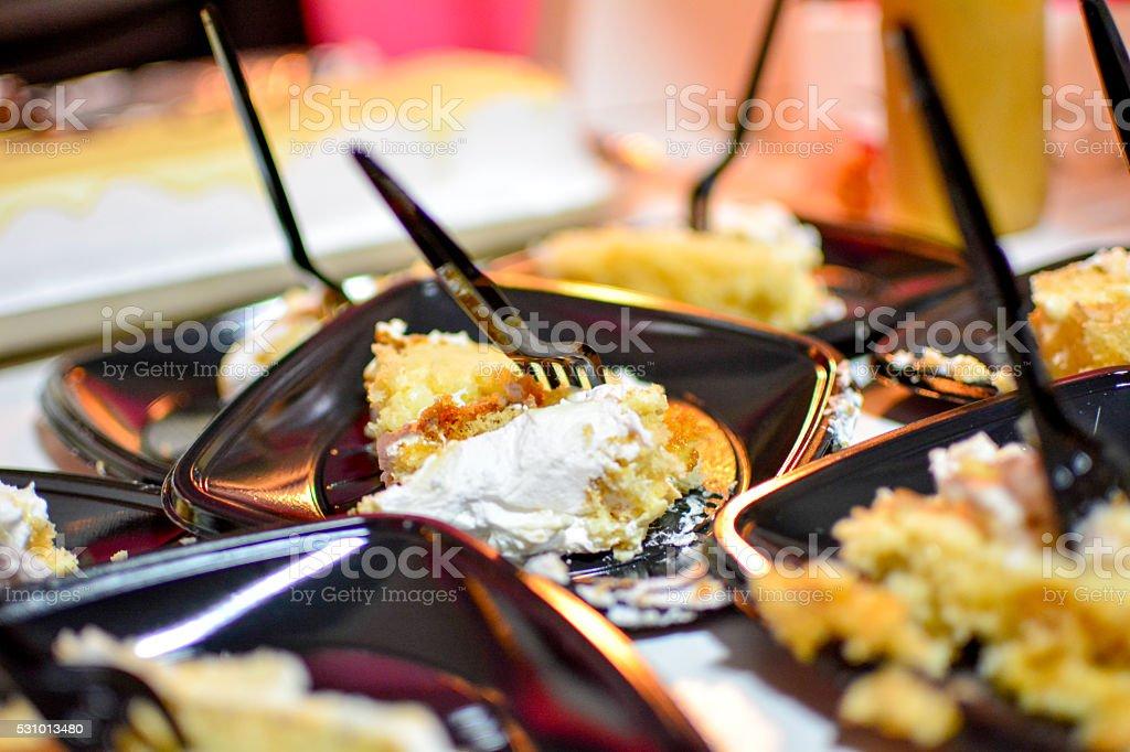 cut cake stock photo