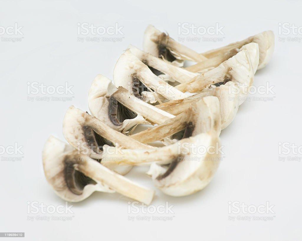 cut champignons royalty-free stock photo
