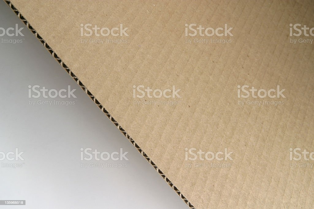 Cut Corrugated Cardboard royalty-free stock photo