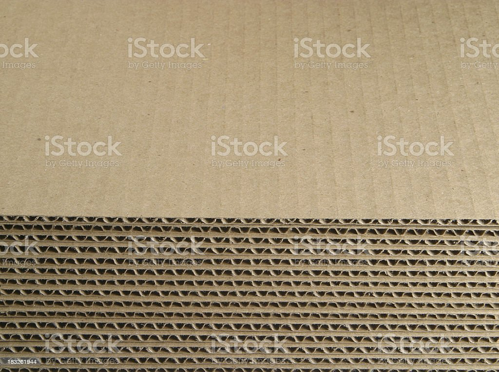 Cut Corrugated Cardboard Stacked royalty-free stock photo