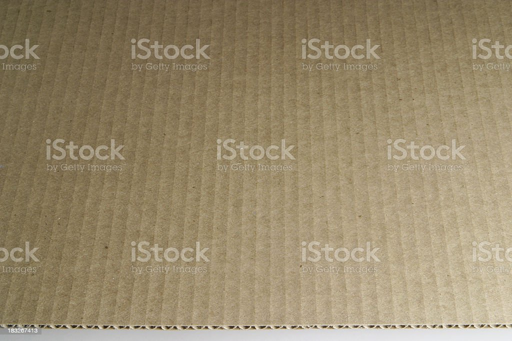 Cut Corrugated Cardboard With Edge royalty-free stock photo