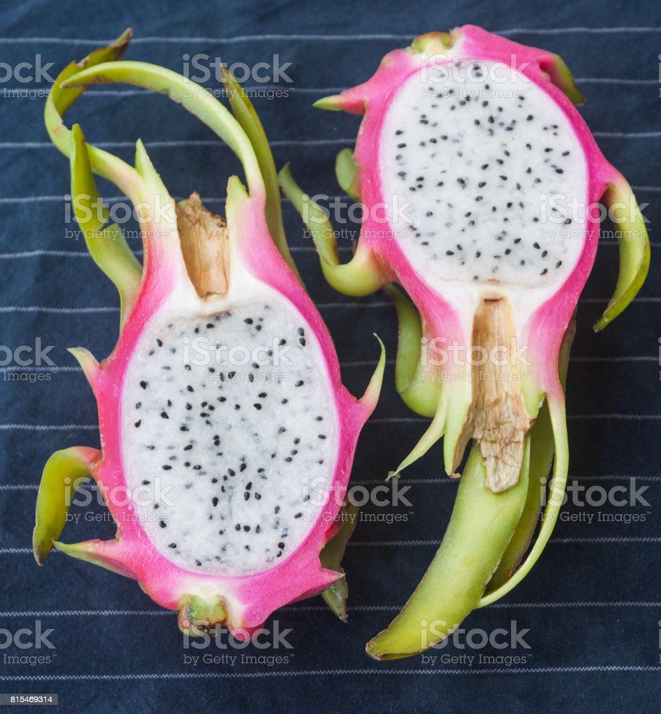 Cut dragon fruit stock photo