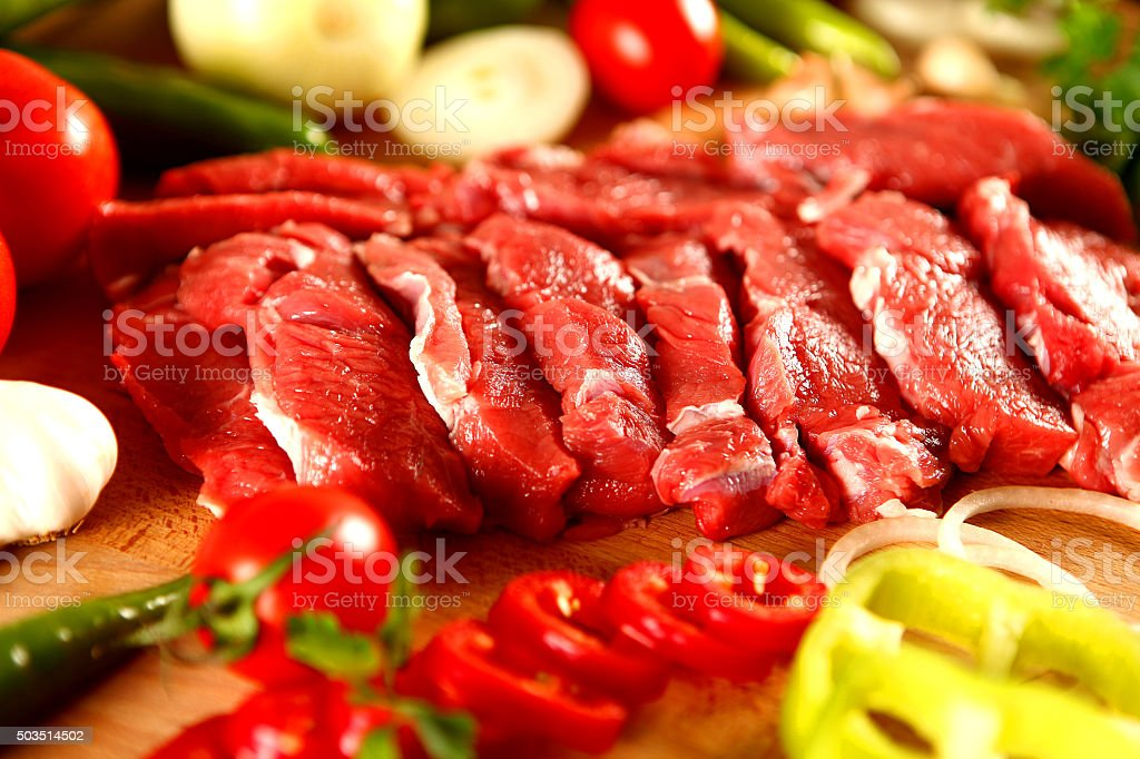 Cut fresh meat stock photo