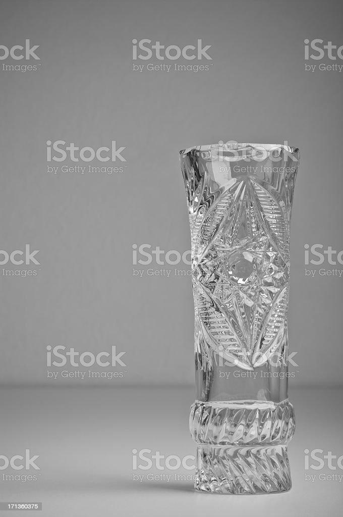 Cut glass vase stock photo