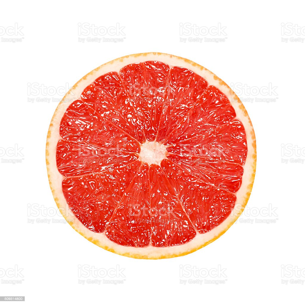 cut grapefruits isolated on white stock photo