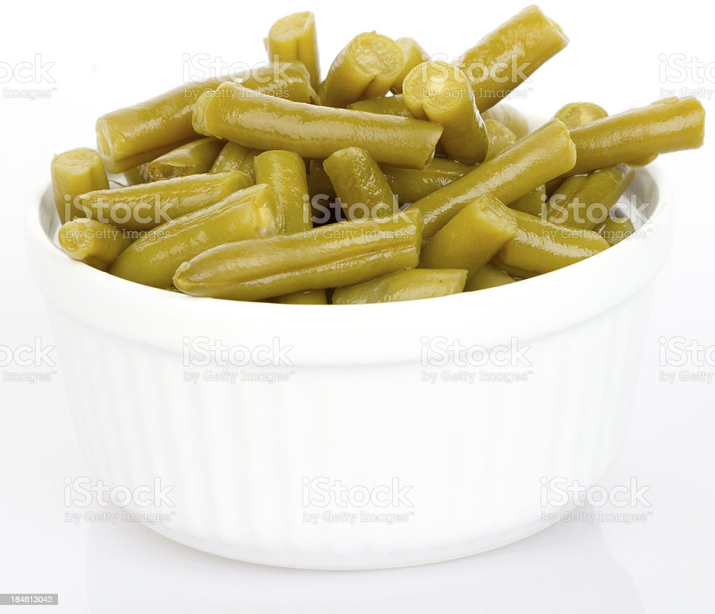 Cut green beans royalty-free stock photo