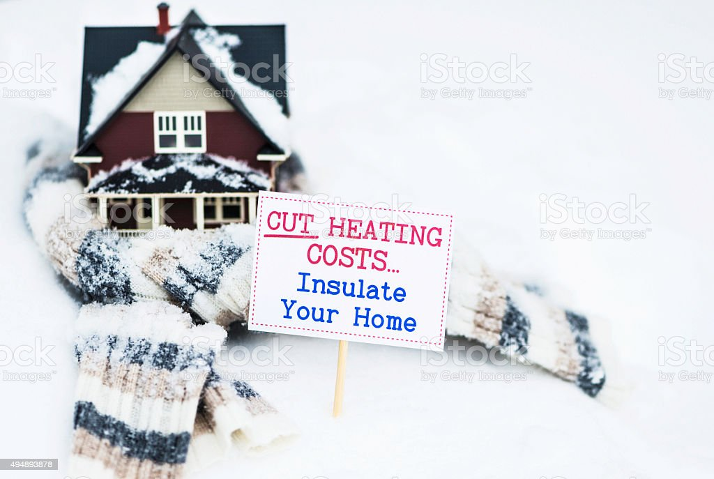 Cut Heating Costs. Insulate Your Home stock photo