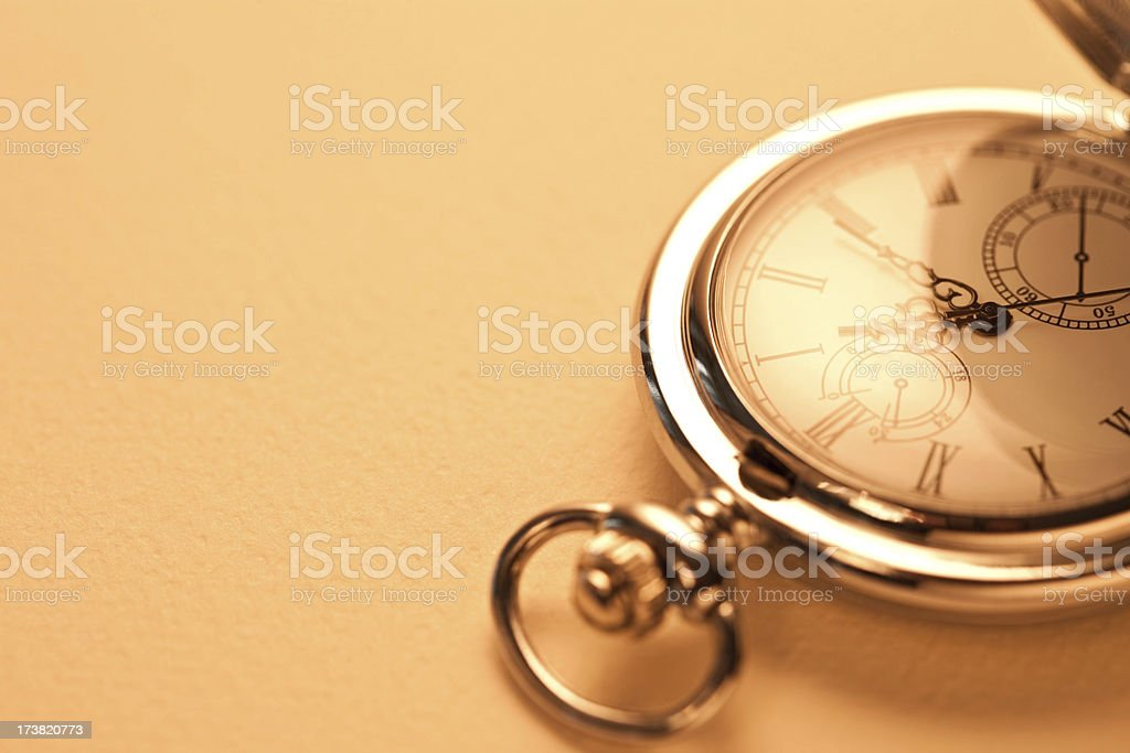 Cut image of a retro style pocket watch royalty-free stock photo