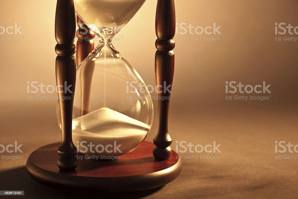 Cut image of hour glass royalty-free stock photo