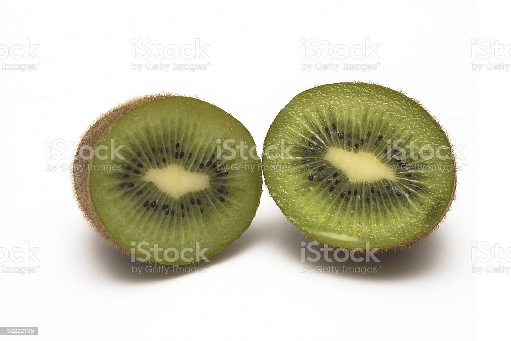 Cut Kiwi royalty-free stock photo