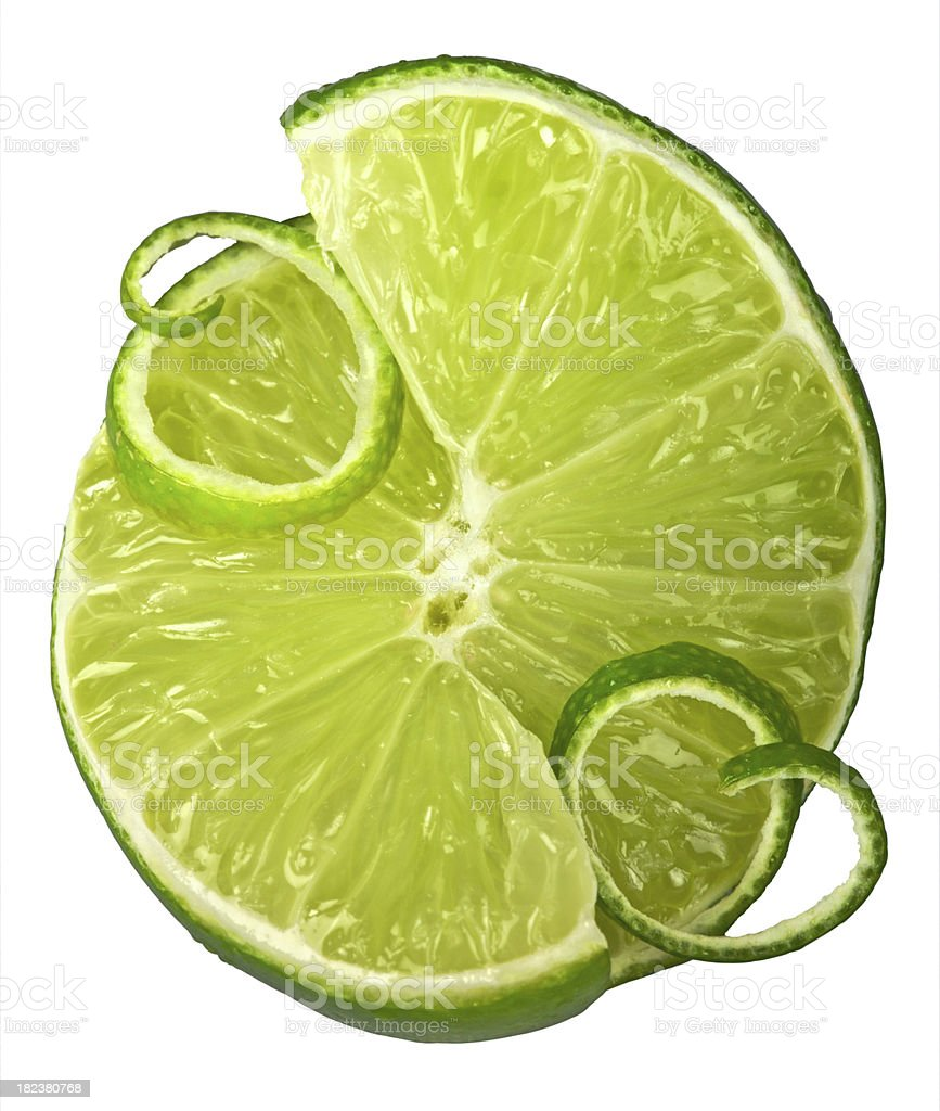 Cut Lime royalty-free stock photo