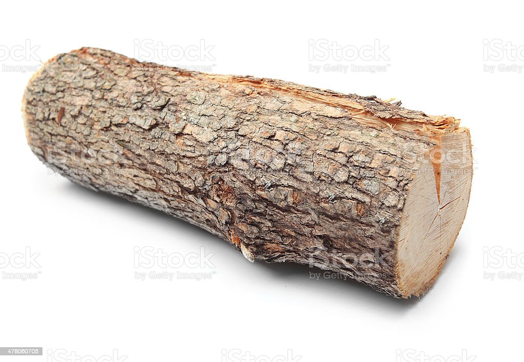 Cut log of fire wood. stock photo
