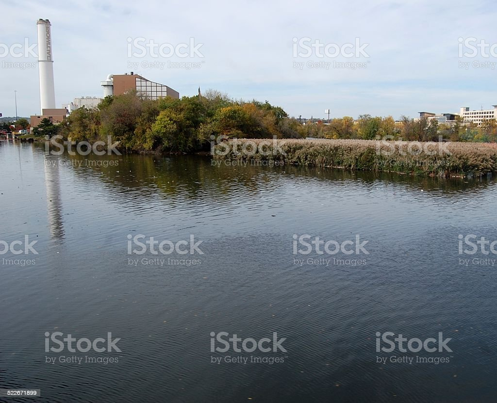 Cut of Baltimore's Bay stock photo