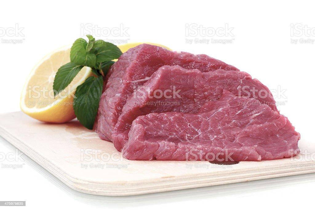 Cut of  beef steak royalty-free stock photo