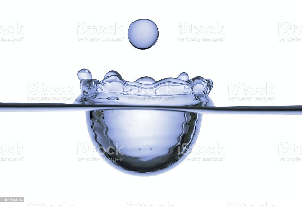Cut of water surface royalty-free stock photo