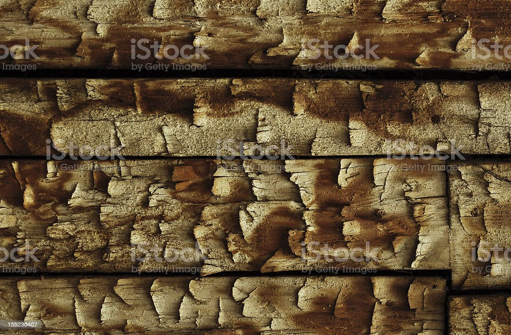 Cut old wooden planks royalty-free stock photo