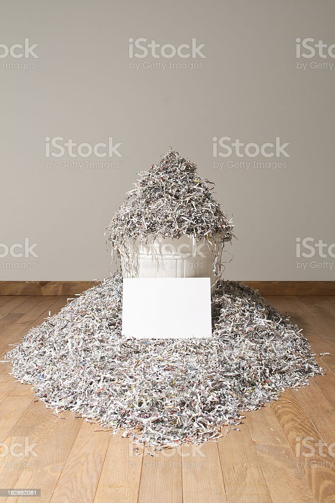 Cut Or Torn Paper royalty-free stock photo