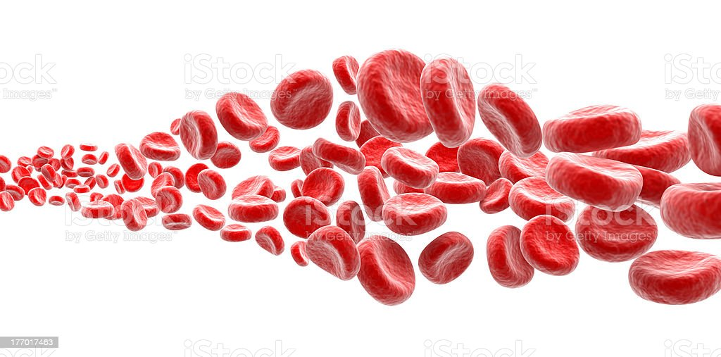 Cut out collection of red blood cells stock photo
