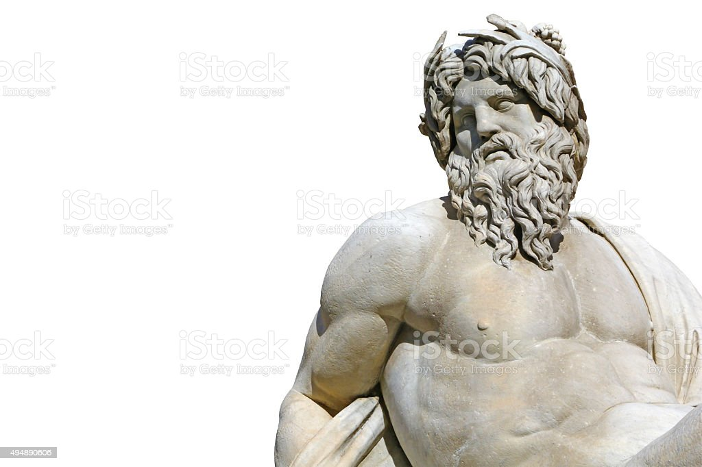 Cut out of roman statue in Piazza Navona stock photo