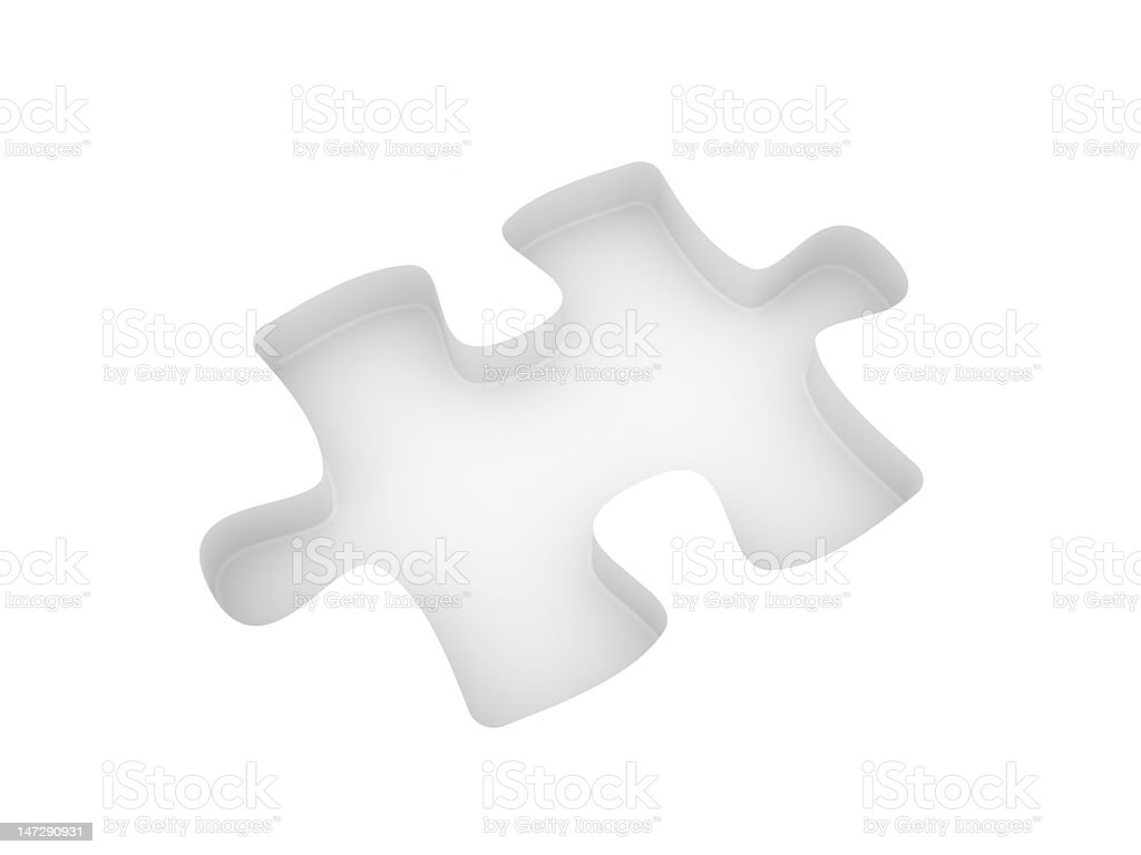 Cut out puzzle royalty-free stock vector art