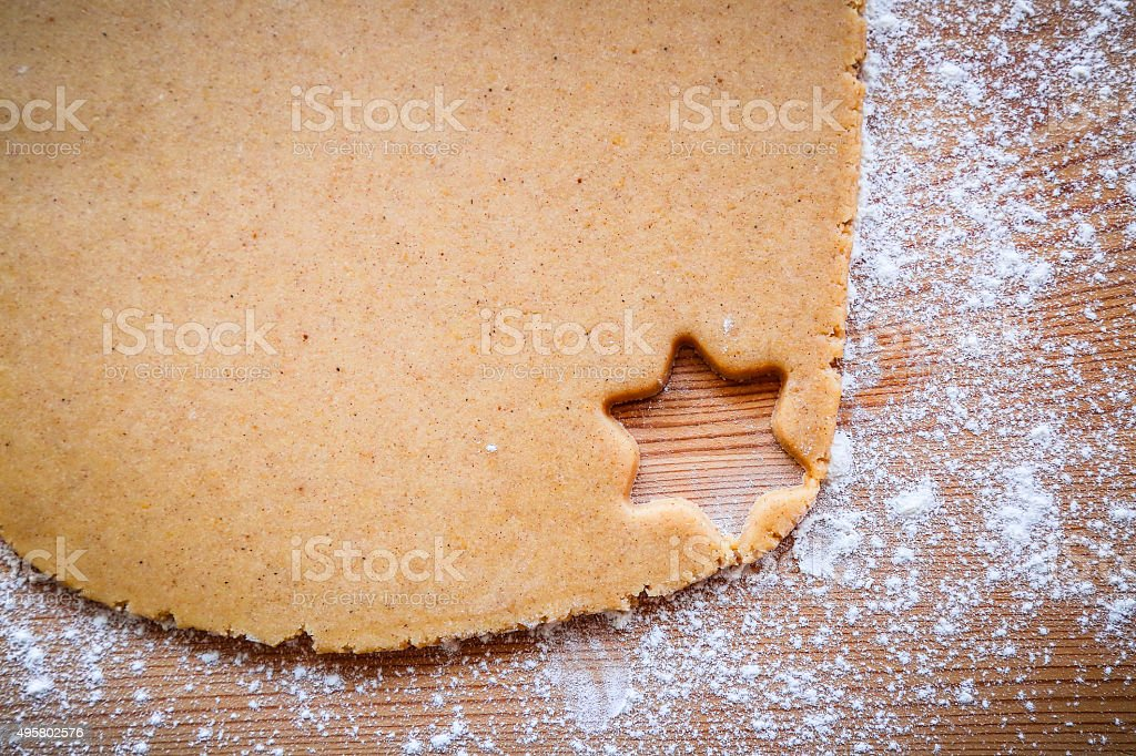 Cut out star shape cookie stock photo