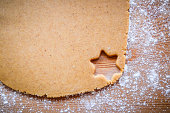Cut out star shape cookie